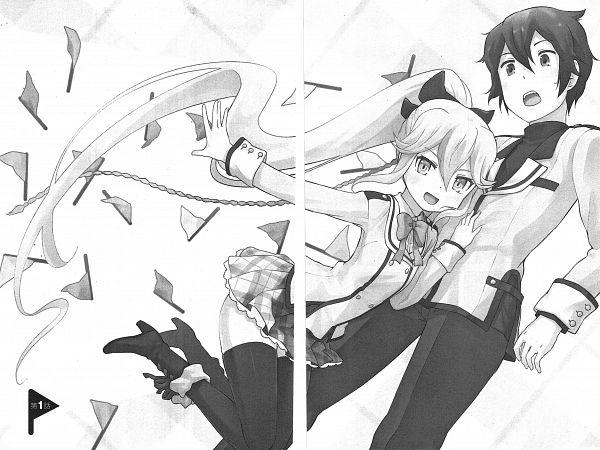 Tags: Anime, Nagian, Kanojo ga Flag o Oraretara, Nanami Knight Bladefield, Hatate Souta, Official Art, Manga Page, Scan, If Her Flag Breaks