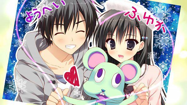 Tags: Anime, Ryohka, feng, Kanojo no Seiiki, Protagonist (Kanojo no Seiiki), Akiyoshi Fuyuka, HD Wallpaper, Wallpaper, CG Art