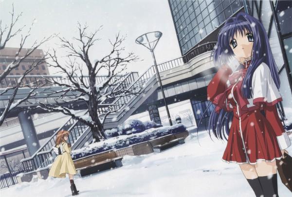 Tags: Anime, Ikeda Kazumi, KEY (Studio), Kyoto Animation, Kanon (KEY), Minase Nayuki, Tsukimiya Ayu, Scan, Official Art