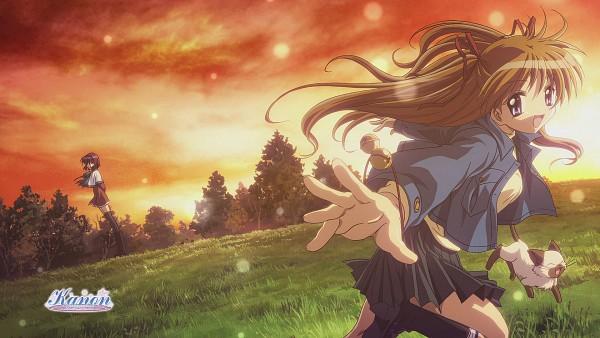 Tags: Anime, Hinoue Itaru, Ikeda Kazumi, Kyoto Animation, KEY (Studio), Kanon (KEY), Amano Mishio, Sawatari Makoto, Piro (Kanon), Official Wallpaper, HD Wallpaper, Scan, Official Art