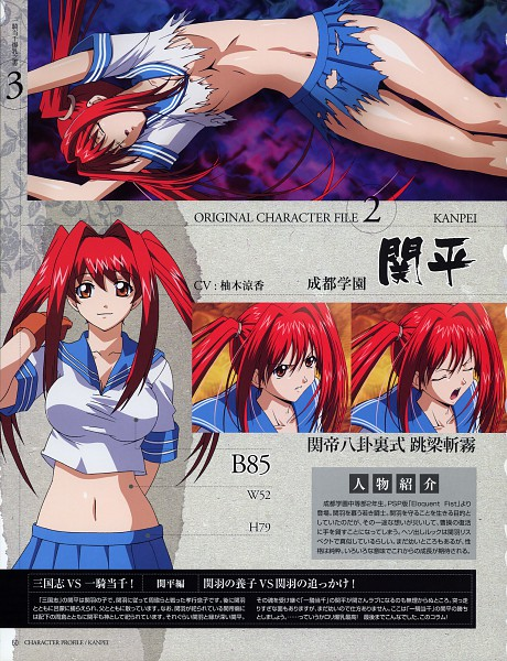 Tags: Anime, ARMS (Studio), Ikkitousen, Kanpei, Official Art, Character Sheet, Scan