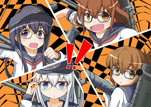 Tags: Anime, Yukimi Unagi, Kantai Collection, Hibiki (Kantai Collection), Akatsuki (Kantai Collection), Inazuma (Kantai Collection), Ikazuchi (Kantai Collection), Persona (Parody), Shin Megami Tensei: PERSONA 4 (Parody), Fanart From Pixiv, Pixiv, Fanart