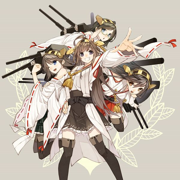 Tags: Anime, Senmu, Kantai Collection, Kongou (Kantai Collection), Kirishima (Kantai Collection), Haruna (Kantai Collection), Hiei (Kantai Collection), PNG Conversion