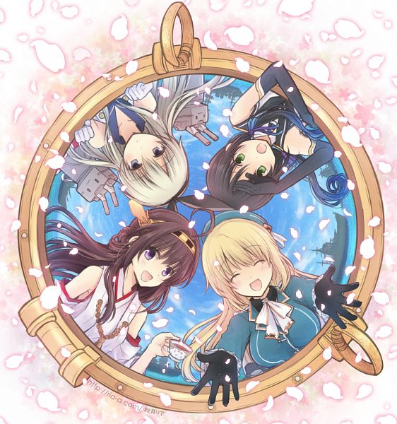 Tags: Anime, Akitsuki Ria, Kantai Collection, Atago (Kantai Collection), Takao (Kantai Collection), Shimakaze (Kantai Collection), Kongou (Kantai Collection), PNG Conversion