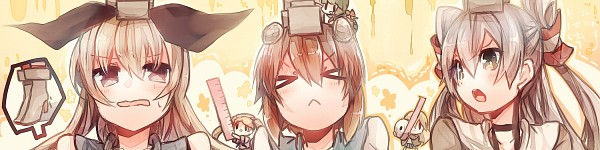 Tags: Anime, Kosugi Nozomu, Kantai Collection, Yukikaze (Kantai Collection), Shimakaze (Kantai Collection), Amatsukaze (Kantai Collection), Fairy (Kantai Collection), PNG Conversion, Pixiv, Fanart, Fanart From Pixiv