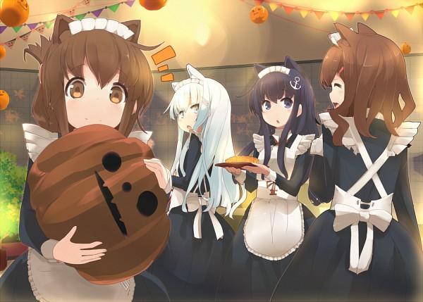 Tags: Anime, Maszom, Kantai Collection, Ikazuchi (Kantai Collection), Hibiki (Kantai Collection), Akatsuki (Kantai Collection), Inazuma (Kantai Collection), Pixiv, Fanart, Fanart From Pixiv, PNG Conversion