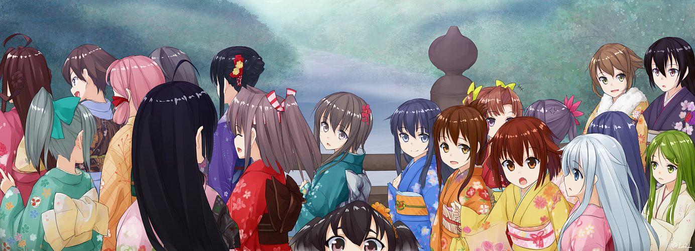 Tags: Anime, Lo (Rogu Ryouiki), Kantai Collection, Kongou (Kantai Collection), Akebono (Kantai Collection), Inazuma (Kantai Collection), Kagerou (Kantai Collection), Mutsu (Kantai Collection), Shouhou (Kantai Collection), Ikazuchi (Kantai Collection), Nagato (Kantai Collection), Tokitsukaze (Kantai Collection), Kirishima (Kantai Collection)