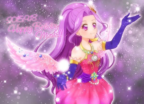 Tags: Anime, Pixiv Id 11204316, Aikatsu!, Kanzaki Mizuki, Purple Handwear, Purple Gloves, Fanart From Pixiv, Pixiv, Fanart