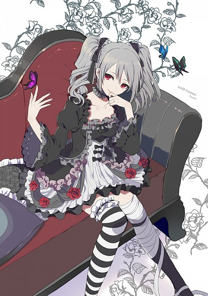 Tags: Anime, Harano, THE iDOLM@STER: Cinderella Girls, Kanzaki Ranko, Animal on Hand, Butterfly on Hand, Fanart, Mobile Wallpaper, Fanart From Pixiv, Pixiv
