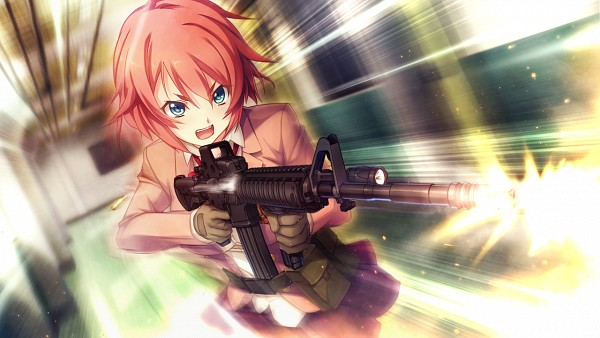 Tags: Anime, Oosaki Shinya, CINEMATOGRAPH, Innocent Bullet -the false world-, Kanzaki Sayaka, CG Art, Wallpaper