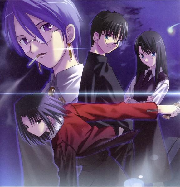 Tags: Anime, Takeuchi Takashi, TYPE-MOON, Kara no Kyoukai, Aozaki Touko, Kokutou Azaka, Kokutou Mikiya, Ryougi Shiki, Official Art, The Garden Of Sinners
