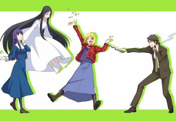 Tags: Anime, Pixiv Id 2049403, TYPE-MOON, Kara no Kyoukai, Akimi Daisuke, Asagami Fujino, Shirazumi Lio, Fujou Kirie, Carnival Phantasm (Parody), The Garden Of Sinners