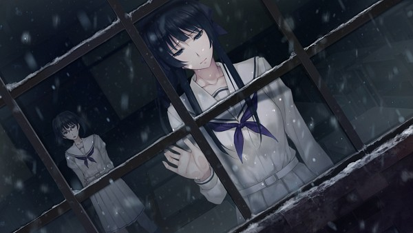 Tags: Anime, Sugina Miki, Innocent Grey, Kara no Shoujo 2, Tori Kohane, Kayahara Yukiko, Wallpaper, CG Art, Empty Girl