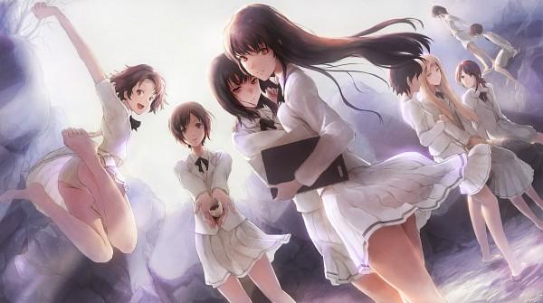 Tags: Anime, Shiika Sadamasa, Innocent Grey, Kara no Shoujo, Kuchiki Toko, Tsukishima Orihime, Tokisaka Yukari, Mizuhara Toko, Stella Maris, Facebook Cover, Wallpaper