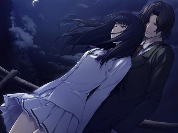 Tags: Anime, Sugina Miki, Innocent Grey, Kara no Shoujo, Tokisaka Reiji, Kuchiki Toko, CG Art, PNG Conversion