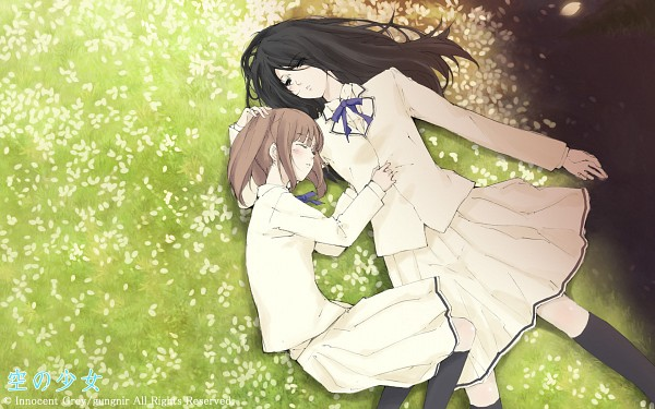 Tags: Anime, Sugina Miki, Innocent Grey, Kara no Shoujo, Nishizono Yui, Kuchiki Toko, 1680x1050 Wallpaper, Wallpaper