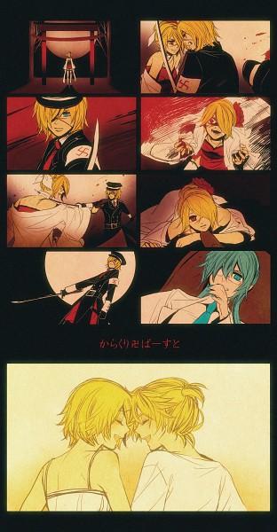 Tags: Anime, Suzunosuke, VOCALOID, Kagamine Len, Kagamine Rin, Hatsune Miku, Karakuri 卍 Burst