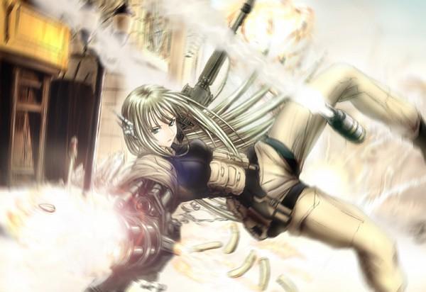 Tags: Anime, Mahou Sensei Negima!, Karakuri Chachamaru, War