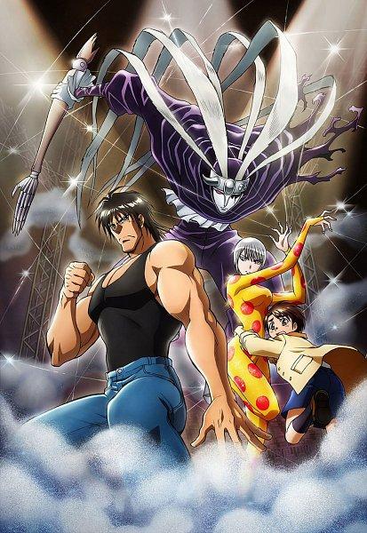 Tags: Anime, Karakuri Circus, Narumi Katou, Harlequin (Karakuri Circus), Shirogane (Karakuri Circus), Masaru Saiga, Marionette, Official Art