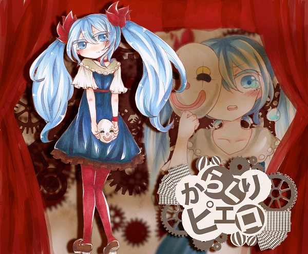 Tags: Anime, Project DIVA F 2nd, VOCALOID, Hatsune Miku, Project DIVA Regret, Karakuri Pierrot, Artist Request, Clockwork Clown