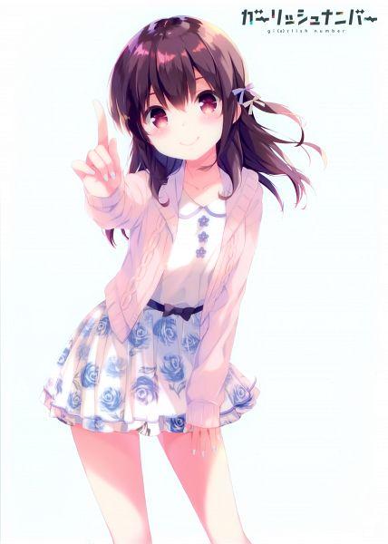 Tags: Anime, QP:flapper, Ohara Tometa, Gi(a)rlish Number, Karasuma Chitose (Girlish Number), Mobile Wallpaper, Scan, Official Art