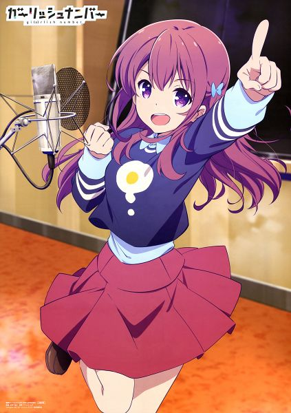 Tags: Anime, Kinoshita Sumie, Diomedéa, Gi(a)rlish Number, Karasuma Chitose (Girlish Number), Scan, Mobile Wallpaper, Official Art