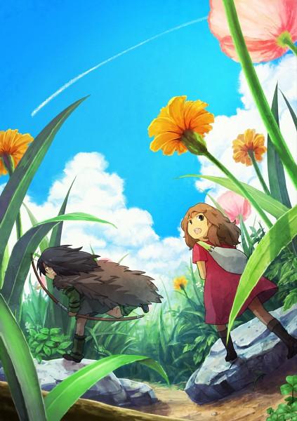 Tags: Anime, Rinko Sky, Karigurashi no Arrietty, Arrietty, Spiller, Mobile Wallpaper, Pixiv, Fanart, The Borrower Arrietty