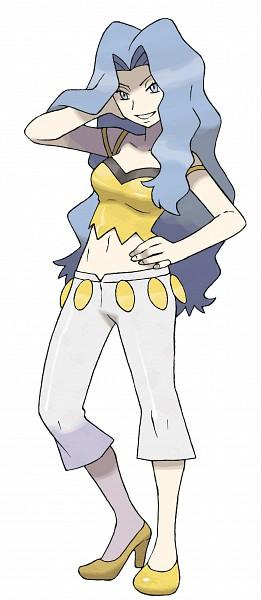 Tags: Anime, Sugimori Ken, Nintendo, GAME FREAK, Pokémon, Karin (Pokémon), Official Art