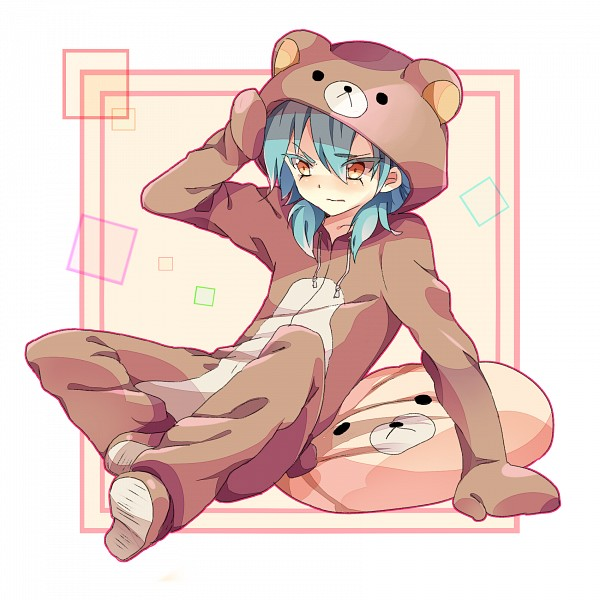 Tags: Anime, Piisuke, Inazuma Eleven GO, Inazuma Eleven, Korilakkuma, Kariya Masaki, Rilakkuma (Cosplay), Kigurumi, Bear Costume, Fanart, Pixiv
