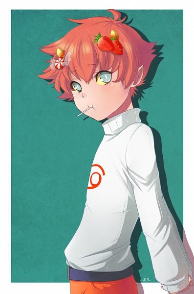 Tags: Anime, Jin-nyeh, Homestuck, Karkat Vantas, PNG Conversion, TRICKSTER MODE, Fanart, Tumblr, Mobile Wallpaper