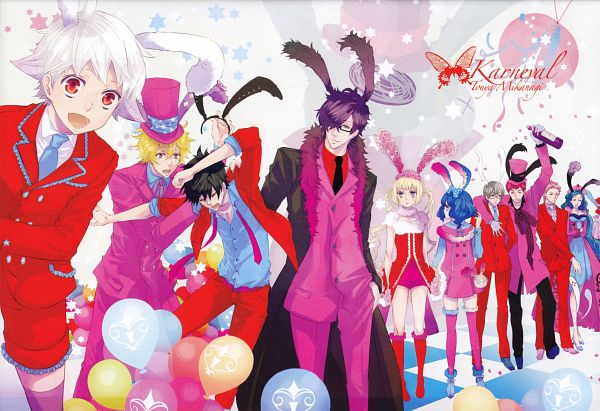 Tags: Anime, Mikanagi Touya, Karneval, Yogi, Iva, Gareki, Akari (Karneval), Tsukumo (Karneval), Tsukitachi, Hirato, Jiki, Nai (Karneval), Kiichi (Karneval)