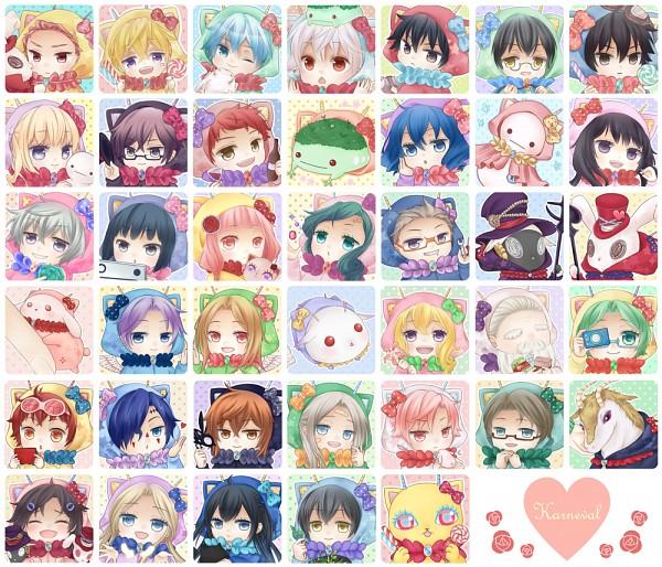 Tags: Anime, Pixiv Id 4920476, Karneval, Hirato, Akari (Karneval), Tsukitachi, Iva, Usagi (Karneval), Nai (Karneval), Jiki, Tsukumo (Karneval), Hitsuji (Karneval), Yogi