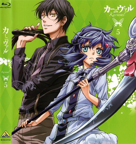 Tags: Anime, manglobe, Karneval, Jiki, Kiichi (Karneval), Official Art, Scan