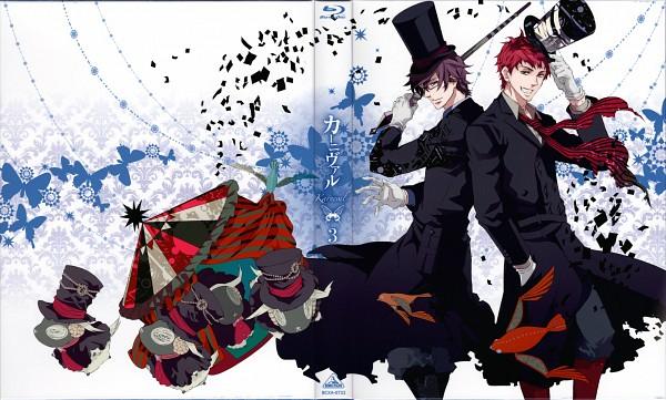 Tags: Anime, Mikanagi Touya, Karneval, Tsukitachi, Hirato, Hitsuji (Karneval), DVD (Source), Official Art, Wallpaper, Scan