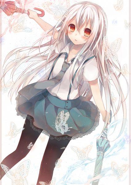 Tags: Anime, Komeshiro Kasu, Kasako (Komeshiro Kasu), Wide Eyes, Closed Umbrella, Pixiv, Original, Mobile Wallpaper, PNG Conversion