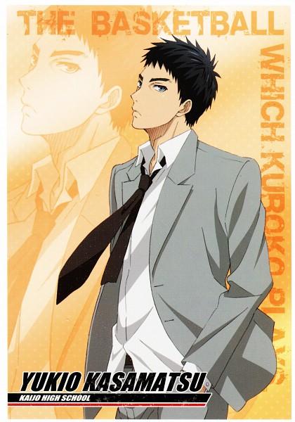 Tags: Anime, Kikuchi Youko, Kuroko no Basuke, Kasamatsu Yukio, School Uniform (Kaijou High), Mobile Wallpaper, Scan, Official Art