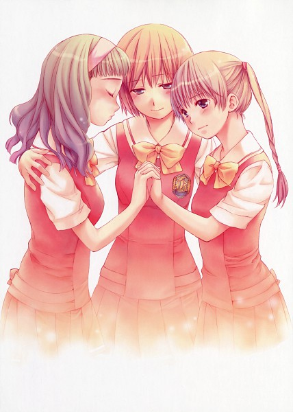 Tags: Anime, Yukimaru Katsura, Kashimashi, Kurusu Tomari, Kamiizumi Yasuna, Osaragi Hazumu, Girl Meets Girl
