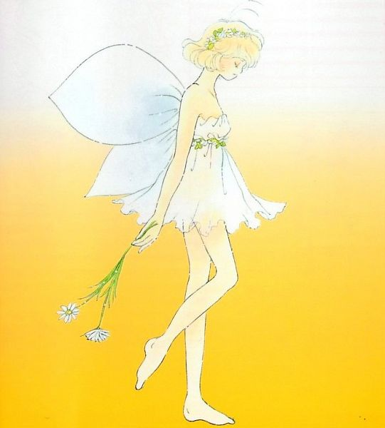 Tags: Anime, Okamoto Keiko, Corrector Yui, Kasuga Yui, Daisy (Flower), Official Art, Self Scanned, Scan, Manga Color