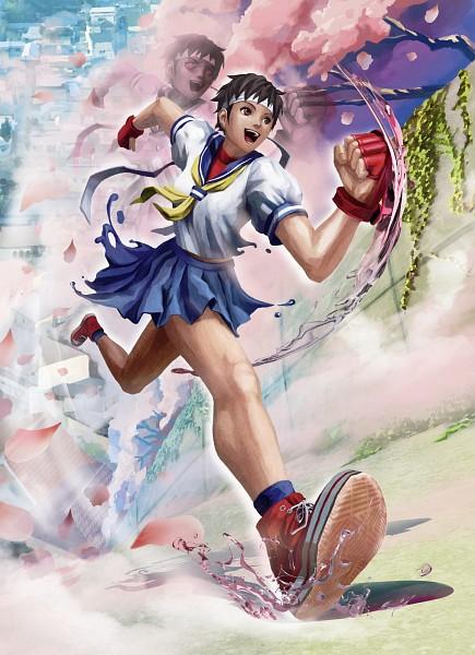 Tags: Anime, Capcom, Rival Schools, Street Fighter, Kasugano Sakura, Official Art