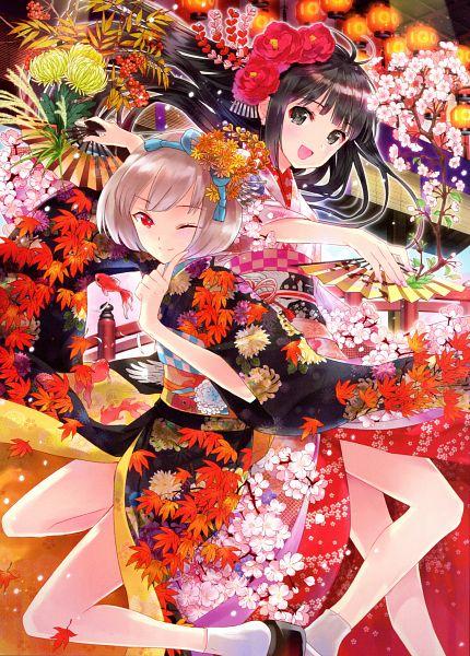Tags: Anime, Kasukabe Akira, Parameter, Eshi 100-Nin Ten 02, Scan, Mobile Wallpaper