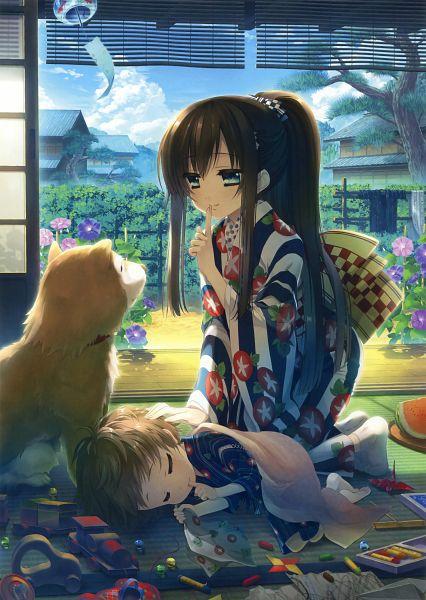 Tags: Anime, Katagiri Hinata, Eshi 100-nin Ten 04, Shiba Inu, Scan