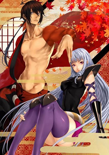 Tags: Anime, Kazakami Yuu, Katanagatari, Togame, Yasuri Shichika, Fanart, Mobile Wallpaper, deviantART, Sword Story