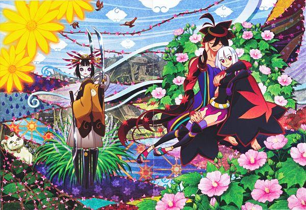 Tags: Anime, WHITE FOX, Katanagatari, Togame, Biyorigou, Yasuri Shichika, Ball Jointed Doll, Official Art, Scan, Sword Story