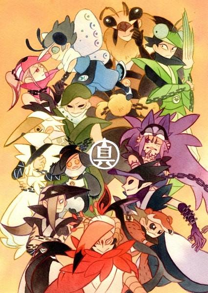 Tags: Anime, Pixiv Id 1056746, Katanagatari, Maniwa Kamakiri, Maniwa Umigame, Maniwa Kyouken, Maniwa Houou, Maniwa Shirasagi, Maniwa Kuizame, Maniwa Chouchou, Maniwa Pengin, Maniwa Koumori, Maniwa Oshidori, Sword Story