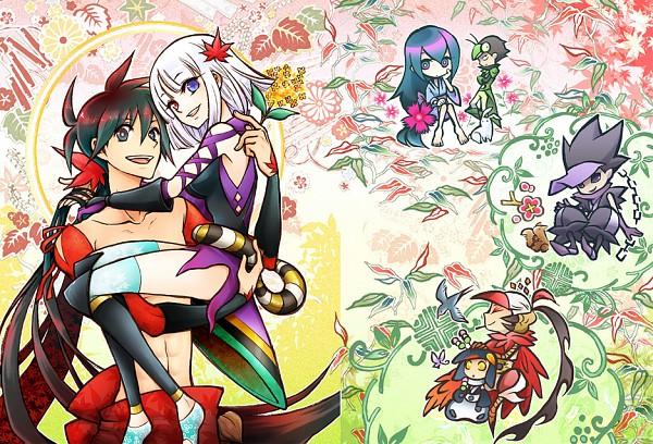 Tags: Anime, Misuke (Gyouran), Katanagatari, Maniwa Pengin, Yasuri Nanami, Maniwa Koumori, Togame, Maniwa Kamakiri, Yasuri Shichika, Maniwa Houou, Sword Story