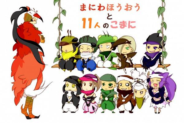 Tags: Anime, Katanagatari, Maniwa Kamakiri, Maniwa Umigame, Maniwa Kyouken, Maniwa Houou, Maniwa Shirasagi, Maniwa Kuizame, Maniwa Chouchou, Maniwa Pengin, Maniwa Koumori, Maniwa Oshidori, Maniwa Kawauso, Sword Story