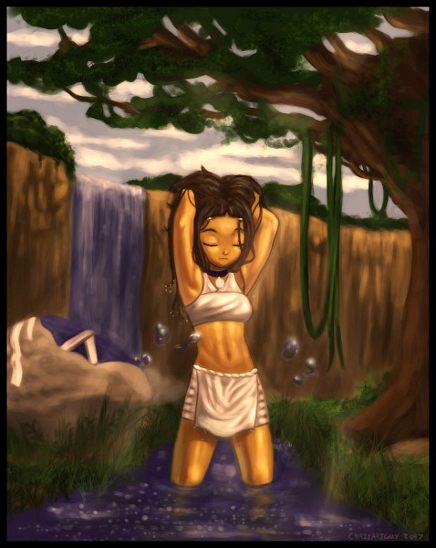 Tags: Anime, Avatar: The Last Airbender, Katara, Waterfall