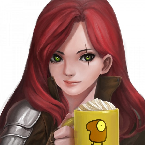 Tags: Anime, wnsdud34, League of Legends, Katarina, Mug, deviantART, Fanart