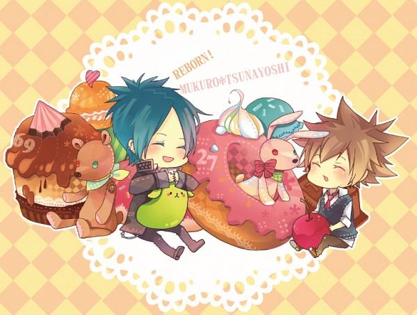Tags: Anime, Miki (Momoko), Katekyo Hitman REBORN!, Rokudou Mukuro, Sawada Tsunayoshi, Fanart, Pixiv