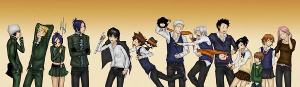 Tags: Anime, Katekyo Hitman REBORN!, Sawada Tsunayoshi, Rokudou Mukuro, Reborn, Fuuta, Chrome Dokuro, Joushima Ken, Sasagawa Kyoko, Lambo, Gokudera Hayato, Hibari Kyoya, Kakimoto Chikusa